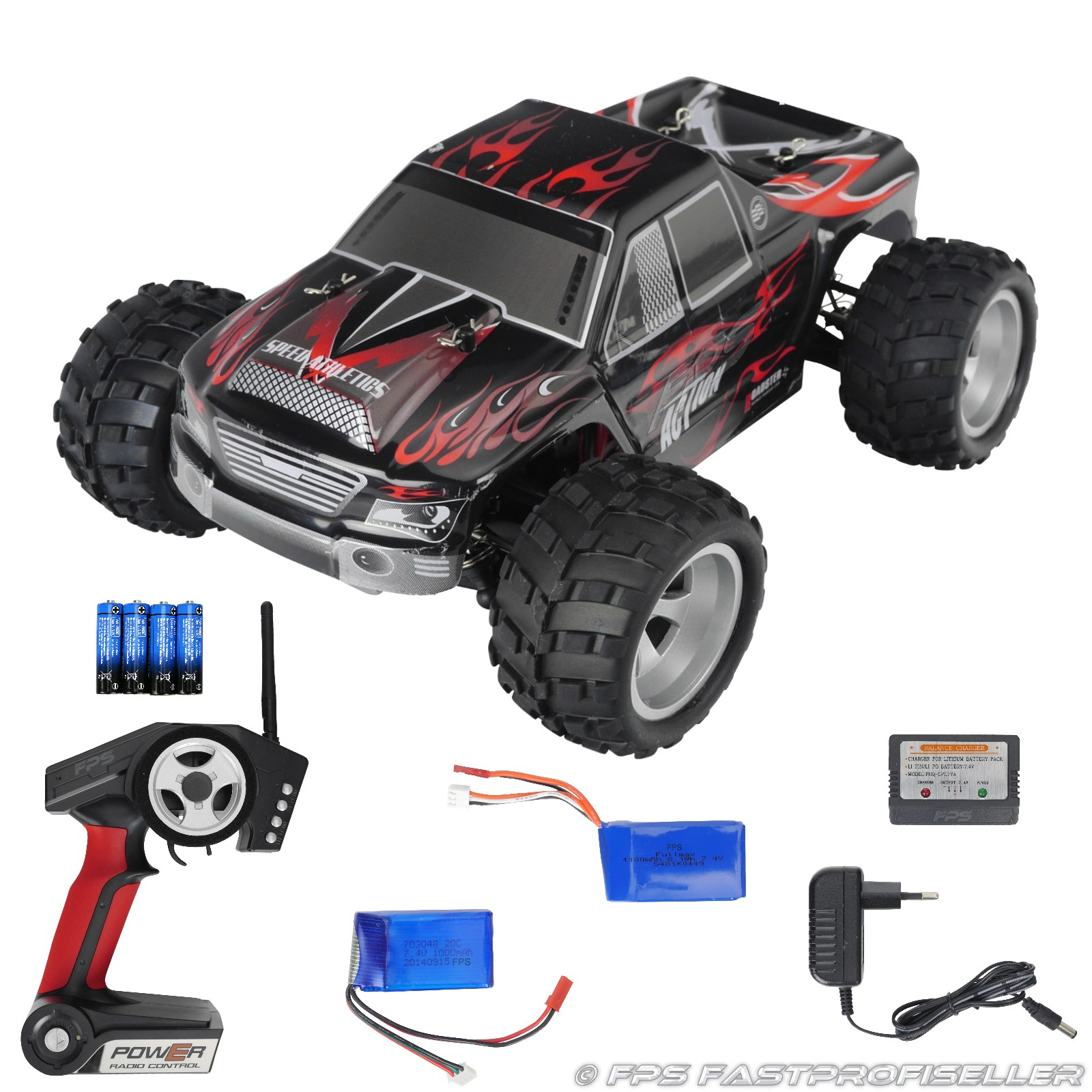 Rayline Funrace 01 FR01 RC Monster Truck mit Zubehör 2x Akku
