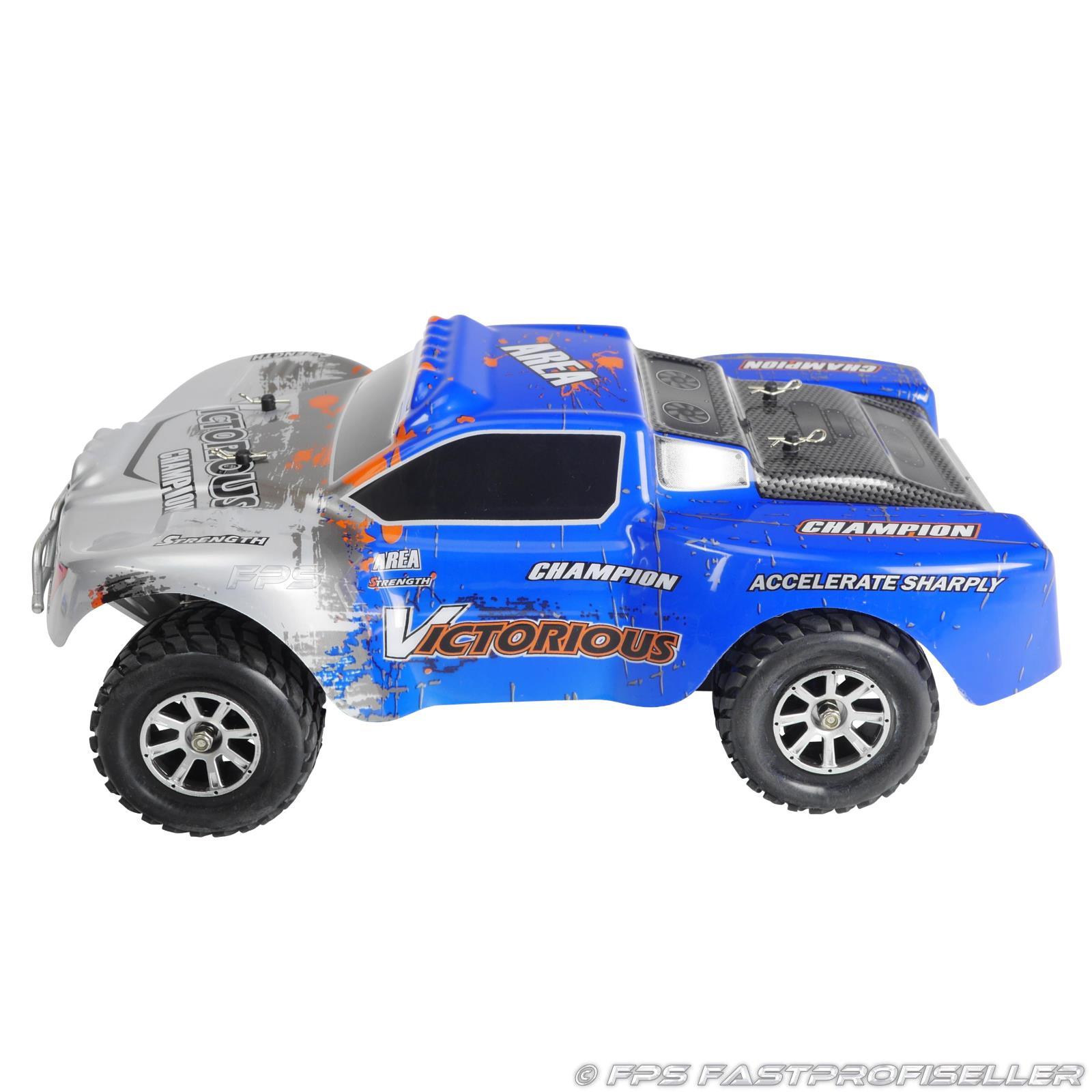 RC 2.4G Truggy Buggy Elektro Auto Ferngesteuert 1:18 Tuning Upgrade mit 2x Akku Elektrisches Spielzeug